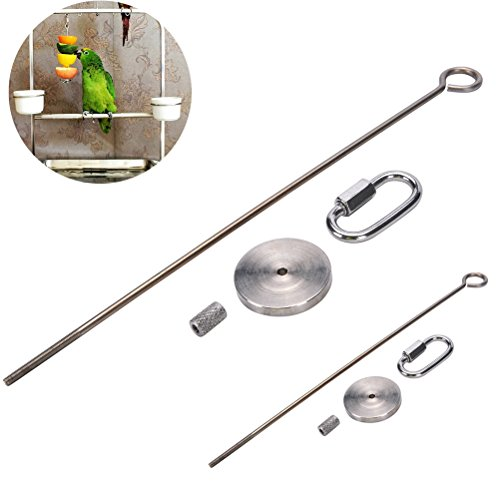 (CosCosX 2 Pcs Parrot Bird Fruit Vegetable Holder Rabbit Cage Meat Stick Spear Hutchc Food Skewer Small Animal Hanging Food Tools Feeder Foraging Toy Budgie Parakeet Cockatiel Hamster Rat Treating Tool)