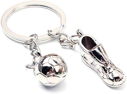 Busirde Zapatos de fútbol balón de fútbol Colgante Llavero de ...