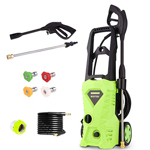 - Electric Power Pressure Washer 2600 PSI 1.6GPM 1600W High Pressure Washer Cleaner Machine with Nozzles and Spray Gun