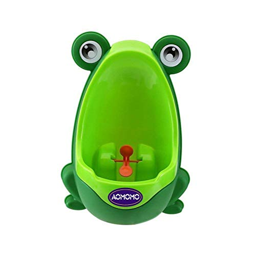 AOMOMO Urinal Potty Training for Boys with Frog Funny Aiming Target (Green)