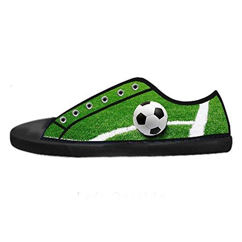 Shoes Scarpe Tetto Ginnastica Alto Sport Da Calcio Delle Custom Canvas Women's I Lacci qAI8wf