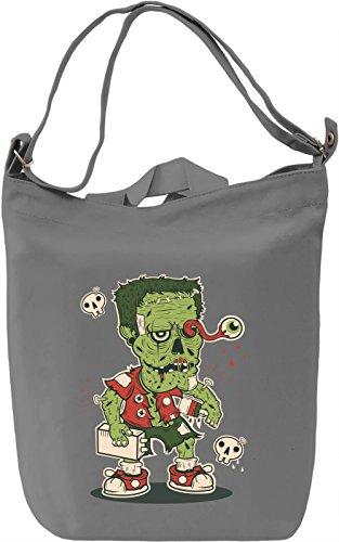 Frankenstein Borsa Giornaliera Canvas Canvas Day Bag  100% Premium Cotton Canvas  DTG Printing 