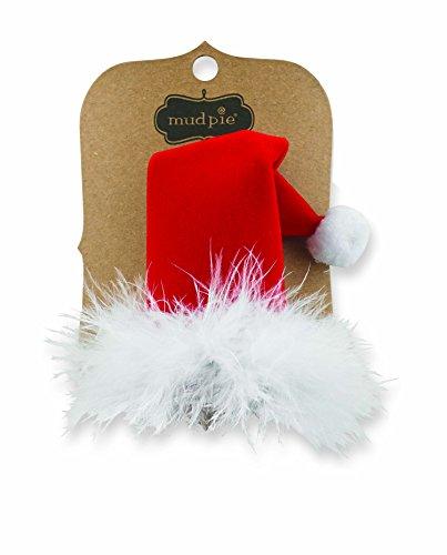 Christmas Holiday Baby Hats (Mud Pie Christmas Holiday Santa Baby Girl Velvet Santa Hat Hair Clip)
