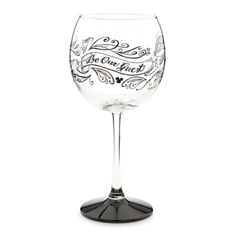 Disney Be My Guest Red Wine Glass Part