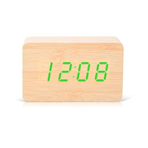 kabb-digital-wooden-alarm-clock-natural-wood-design-green-led-lights-sound-activation-snooze-functio