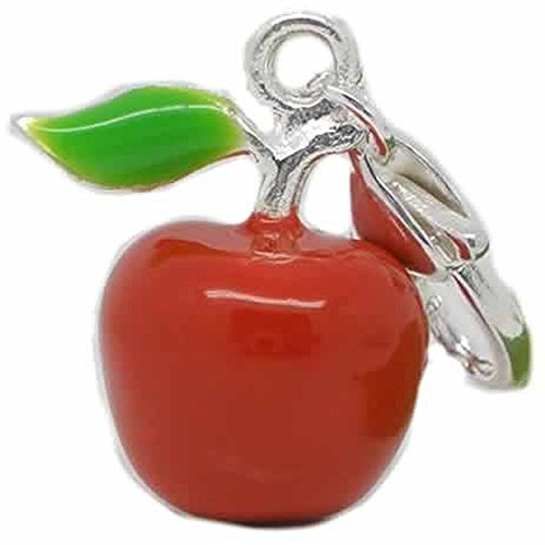 SPARKLES Clip On Red Apple...