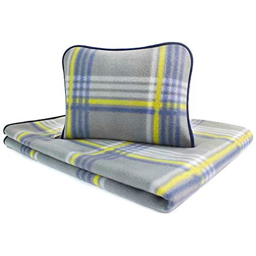 (Forestfish Fleece Throw Blanket Cozy Soft Portable Travel Blanket Compact for Long Car Airplane Train Rides 60