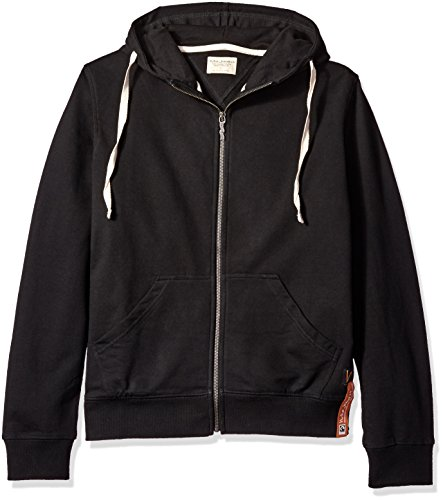 nudie-jeans-mens-elvin-light-zip-hoodie-black-small