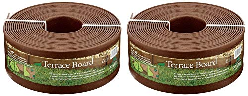 Master Mark Plastics 95340 Terrace Board Landscape Edging Coil, 5-inch x 40-Foot, Brown (Pack of 2) ()