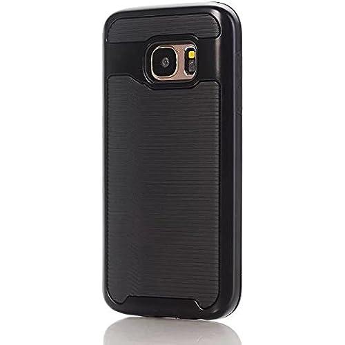Samsung S7 Case, Haoshi Wavy 2 in 1 Armor Case Shockproof Drop Resistence Back Case for Samsung Galaxy S7 (PC+TPU, Black) Sales