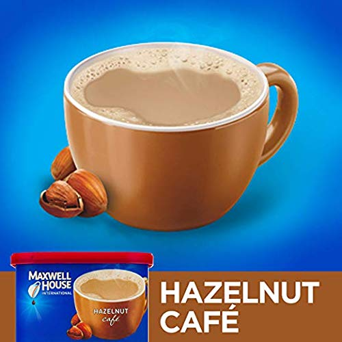 Maxwell House International Hazelnut Instant Coffee, 9 oz Canister (Pack of 10) (Pack of 10)