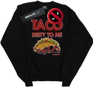 Marvel Herren Deadpool Taco Dirty to Me Sweatshirt Schwarz Medium