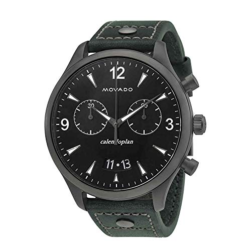 Movado Heritage Black Dial Mens Chronograph Watch 3650029