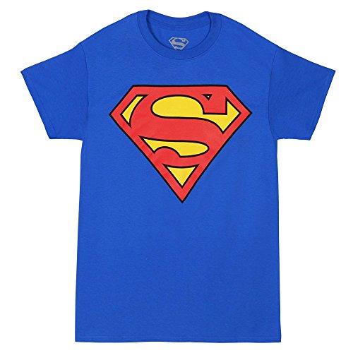Superman Original Classic Logo Tshirt Blue