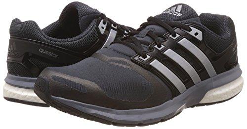 Questar Uk Hommes Adidas Course De Fonce Argent Tf 10 Noir Chaussures Gris OFIfqnx