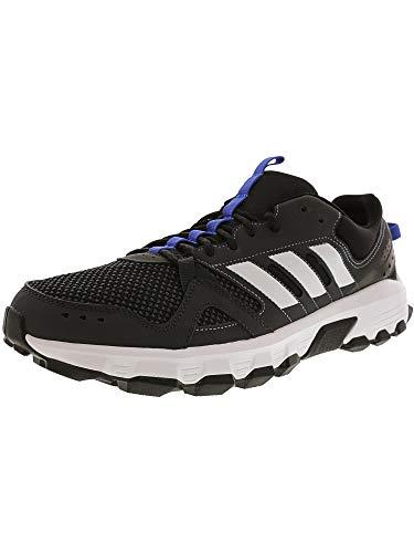 Blue Grey White Mens Sneakers - adidas Men's Rockadia m Trail Running Shoe, Carbon/White/hi-res Blue, 9.5 M US