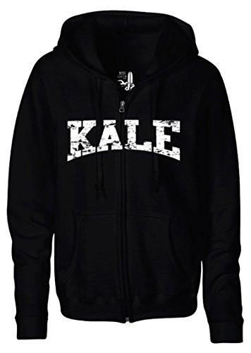 Adult-Kale-Vegan-Vegetarian-White-Zipper-Hoodie-Hooded-Sweater