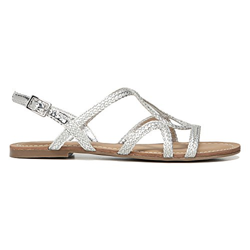 Carlos by Carlos Santana Womens Gale Sandals Silver vUzNbg