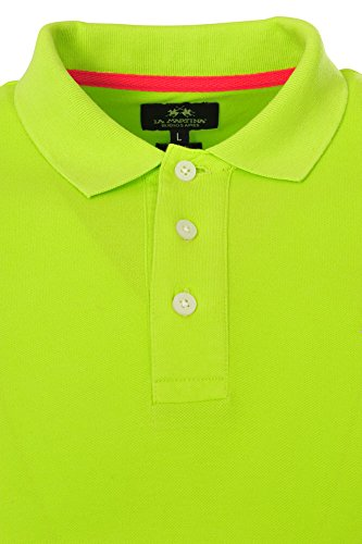 La Martina Polo Poloshirt Herren Grün Lime Punch Slim Fit Baumwolle Casual S