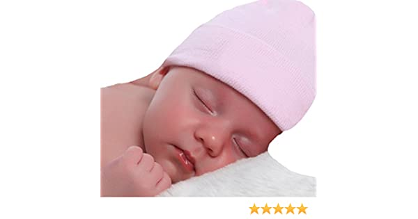 Amazon.com  Melondipity Solid Pink Newborn Hospital Hat - 2 Ply 100%  Authentic Hospital Hat  Clothing 57134c639c32