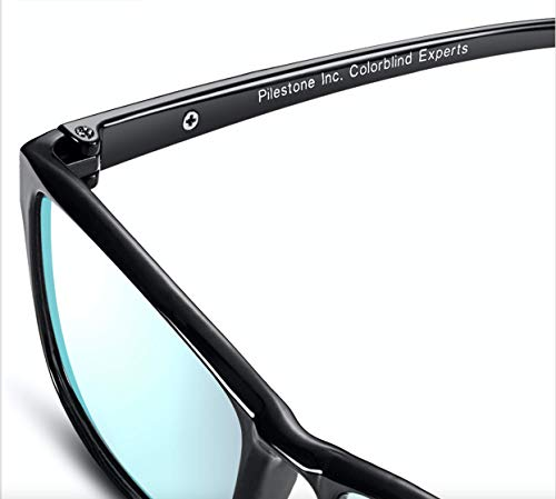 2722204506 Pilestone Color Blind Glasses Model TP-012 for Red Green Blindness  (Titanium Coated)