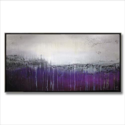 Eloise World Studio Abstract Modern Canvas Painting, Contemporary Wall Art Limited Edition - 62 x 32 x 1.5 Ready to Hang. Canvas Floater Frame. High End Fine Art -