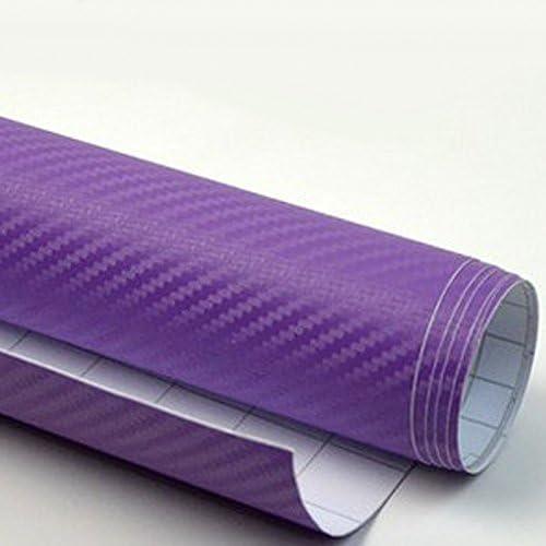 "3D Top Grade 36/"" x 60/""  Purple Carbon Fiber Vinyl Wrap Car wrap Decal sticker"