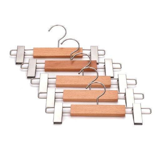 J.S. Hanger Wooden Pant Hangers with