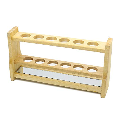 Wooden Colorimetric Test Tube Rack 6 Hole Thick Wood Wooden Tube Rack Laboratory Exports Manufacturers Hole Diameter 28mm