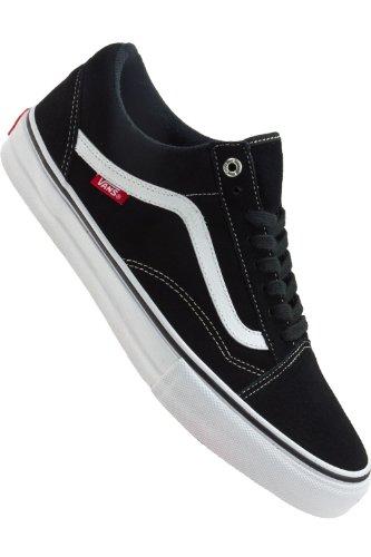 Vans OLD SKOOL 92 Pro Black White Red Skateboard Shoes-Men 11.0, Women 12.5