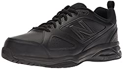 New Balance Men's Mx623v3 Casual Comfort Training Shoe, Black Leather, 14 4e Us