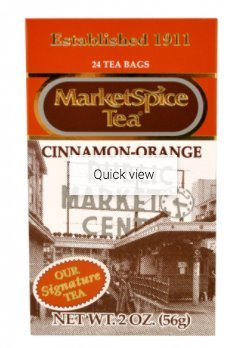 MarketSpice Teabags, box of 24 (Market Spice Tea) Cinnamon-Orange (Net WT 56G)