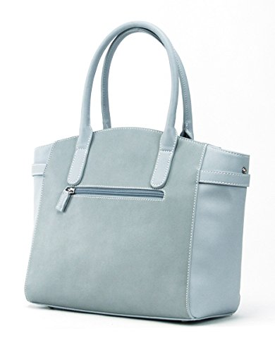 Adler by Adler Mode Damen Rucksack - Tasche, Clutch, Hängetasche, Shopper Hellblau Einheitsgrösse