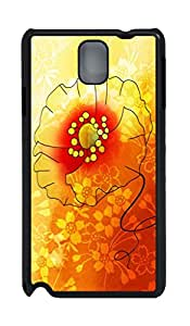 iCustomonline Flower Hard Back Protective Cover Case for Samsung Galaxy Note 3 N9000 PC Material Black