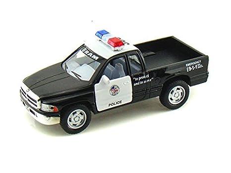 Dodge Pickup Trucks >> Kinsmart 5 Dodge Ram Police Pickup Truck 1 44 Scale Black White