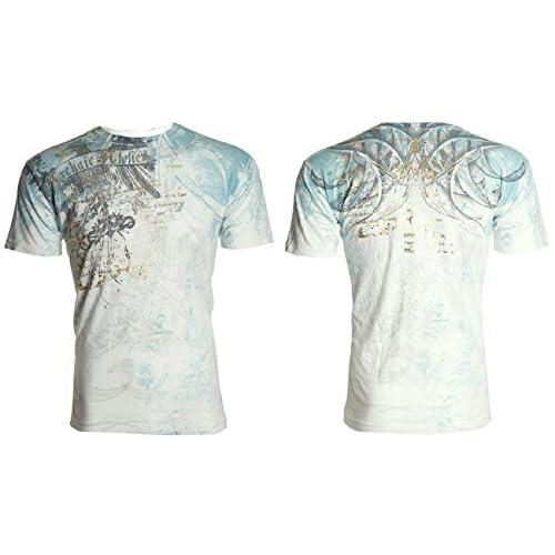 919eb1a6 Archaic AFFLICTION Men T-Shirt CASCO Eagle Wing Tattoo Biker MMA UFC lovely