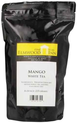 Elmwood Inn Fine Teas, Mango White Tea, 8-Ounce Pouch