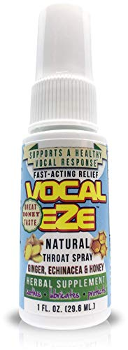 Vocal Eze, Vocal Herbal Throat Spray (1) Bottle | Celebrity Endorsed | Relieve Sore, Horse, Fatigue, Dryness, Immune Support, All Natural Ingredients
