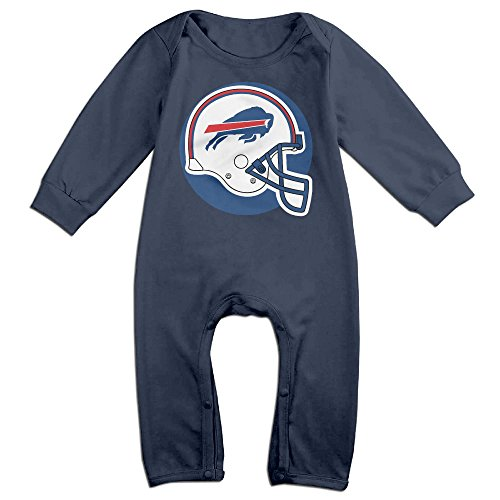 - TLK Babys Buffalo Football Bills Logo Long Sleeve Jumpsuit Outfits 6 M