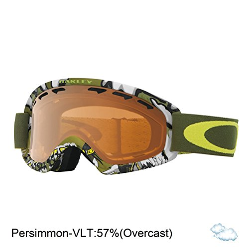 Oakley O-Frame 2.0 XS Snow Goggles, Shady Trees Army Green Frame, Persimmon Lens, - Oakley Military Goggles