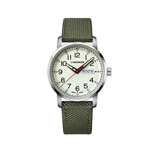 Wenger Unisex Analogue Quartz Watch with Nylon Strap 01.1541.110