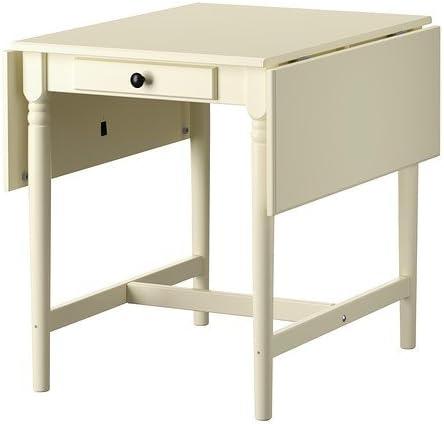 Ikea INGATORP Mesa Plegable de Blanco; ({59} /{88}/ 117 x 78 cm ...