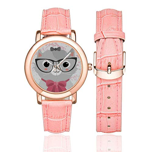 Reloj de Pulsera de Piel para Gato, Gato, Amante, Regalo para Mujeres, Gatos, Damas, Gatos, Mascotas, Amante: Amazon.es: Relojes