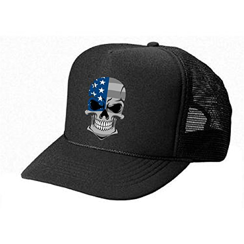 Epic Designs Cool USA Pride Hat -American Subdued Flag Skull - Cool Stylish Apparel accessories ()