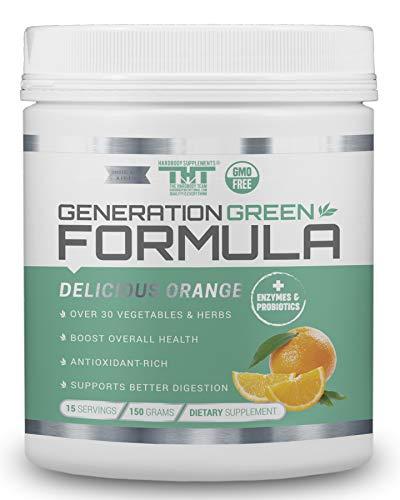 Generation Greens Powder | Best Organic Superfood Green Powder | 60 Powerful Super Foods (Spirulina,Chlorella,Wheat Grass), Probiotics, Enzymes |GMO Free