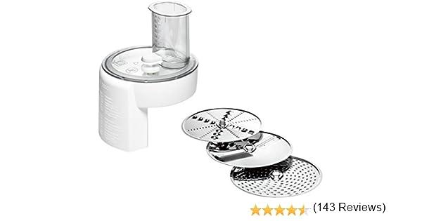 Bosch MUZ4DS4 Food grinder batidora y accesorio para mezclar alimentos - Accesorio procesador de alimentos (Food grinder, Blanco, Acero inoxidable, BOSCH MUM 4, 180 mm, 180 mm): Amazon.es: Hogar