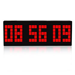 I-MART Large Big Number Digital Led Clock/Wall Alarm/Digital Calendar/Count Down Timer (Red)