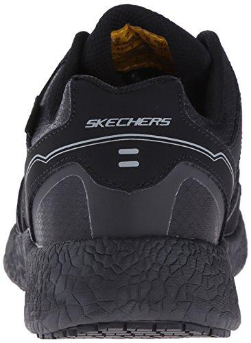 Skechers For Work Womens Burst Slip Resistant Gwinner Waterproof Work Shoe Black xRTfe