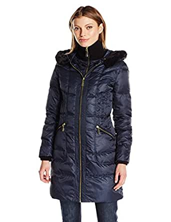 Amazon.com: Vince Camuto Women's Mid Weight Down Coat ...