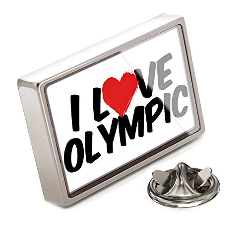 (NEONBLOND Lapel Pin I Love Olympic)